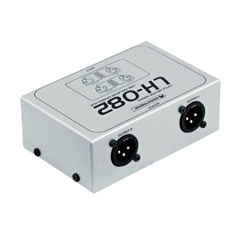 OMNITRONIC LH-082 Stereo isolaattori XLR Maaerotin-häiriön poistaja passiivinen! isolator, galvaaninen erotin signaalin  sisään ja ulostuloon. Kaksi laadukasta audio muunninta, balansoidut lähdöt sisään sekä ulos 600ohm. Laadukas metallinen konstruktio. Soveltuu keikkakäyttöön sekä kiinteään asennukseen. Pienikokoinen 110 x 75 x 40 mm sekä paino vain 300gr.
