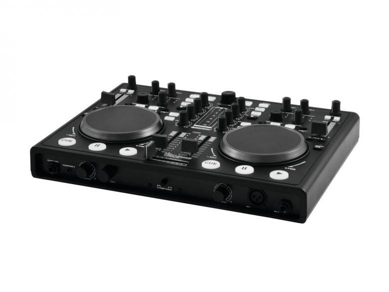 POISTO OMNITRONIC DJ-kontrolleri TMC-2MK2 Virtual DJ 7 LE. Dj soittolaite, jolla teet tietokoneestasi DJ aseman, Todellinen HUIPPU DJ-paketti on varustettu kahdella dekillä, jolloin voit tietokonettasi hyödyntäen soittaa CD tyyppisesti filejä, joiden avulla voit luoda musiikkia ja järjestää huikeita bile-iltoja, Interface, incl.VDJ!