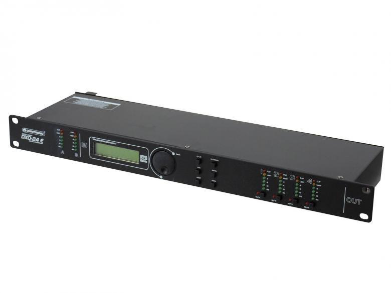 OMNITRONIC DXO-24E Digitaalinen jakosuodin limitterillä, kaiulla ja taajuuskorjaimella 19
