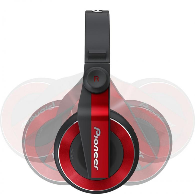 PIONEER HDJ-500 punainen Dj-kuuloke on suunniteltu joustavaa DJ-elämäntyyliä varten. Ne sopivat sekä koti-DJ:n käyttöön, klubille että oman tanssimusiikin äänentarkkailuun reissussa.