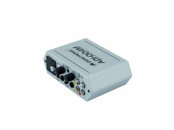OMNITRONIC ADI-004M USB Äänikortti Phantom 48V ulkoinen, Mic  ja kuuloke! audio interface with integrated low-noise microphone preamplifiers. mitat 160 x 120 x 52 mm sekä paino 440g.