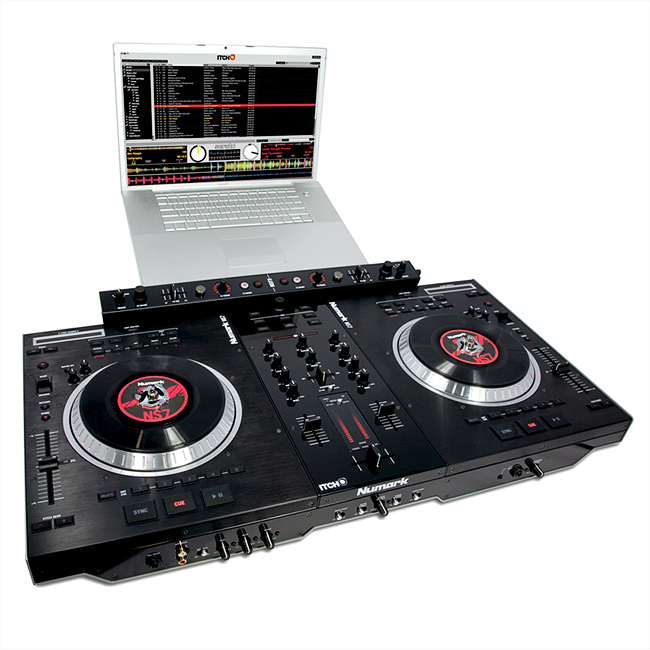 NUMARK NS7FX Performance Controller With Serato ITCH Moottorisoitu DJ softaohjain!