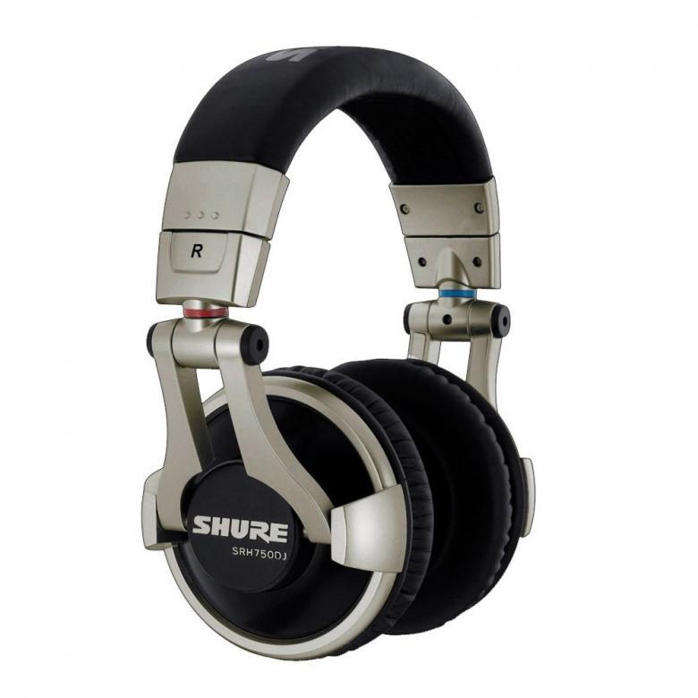 SHURE SRH750DJ, Dynaaminen PRO DJ Kuulok, discoland.fi