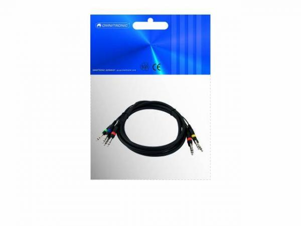 OMNITRONIC Snake-cable 4x 6,3mm/4x 6,3mm stereo, 6m