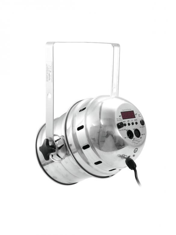 EUROLITE LED PAR-64 valaisin 36x 3W 20° short alu. Tämä LED-valonheitin on kaikkien tykkien tykki! Kyykkää jopa 1000W normaalin PAR-valonheittimen ja väreillä!