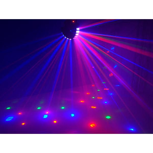 EUROLITE LED TSR-400 RGBAW LED Beam Effect with 5x 3W LEDs DMX, Futuristinen Valoefekti 5x 3W LEDeillä, Tosi makee! LEDeillä toimiva valoefekti. 5x 3W LEDit Master/ Slave voidaan kytkeä useita peräkkäin. 3-DMX kanavaa. Auto mode sekä musiikkiohjaus. Mitat 360 x 400 x 365 mm sekä paino 6.0kg.