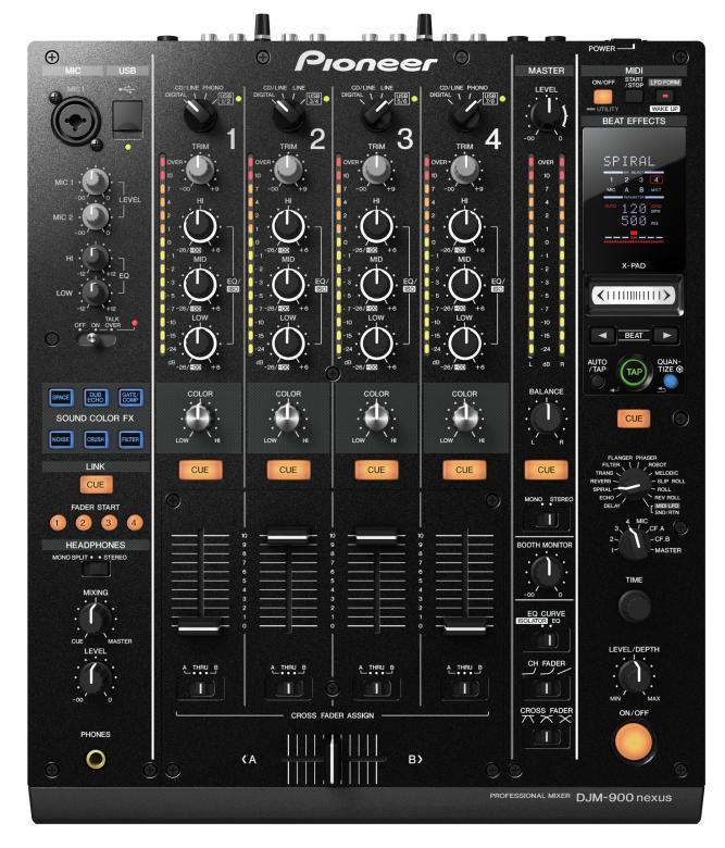 PIONEER DJM-900NXS DJ Mikseri 4-kanavaa Huippuluokan Digitaalinen DJ mikseri, 4-channel Performance Mixer. PRO-DJ-Tuote. DJM-900 nexus on DJM-800-klubimikserin päivitetty ja huomattavasti paranneltu versio, joka nostaa ammatti-DJ:n luovuuden uudelle tasolle. Erinomainen tietokoneliitettävyys, modernit efektit, huippuominaisuudet ja ääni tekevät tästä mikseristä jokaisen modernin ammatti-DJ:n tärkeimmän varusteen. DJM900.