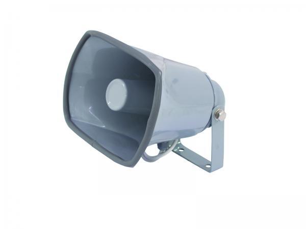 OMNITRONIC NOH-25S PA Torvikaiutin 8ohm 25W Toimii loistavasti myös variksenpyynnissä! Horn speaker. Tämän voit kytkeä autostereoihin tai mihin vain vahvistimeen ja soittaa musaa tai puhua ja saat äänesi kuuluviin. Mitat 200 x 155 x 205 mm sekä paino 1,0kg.