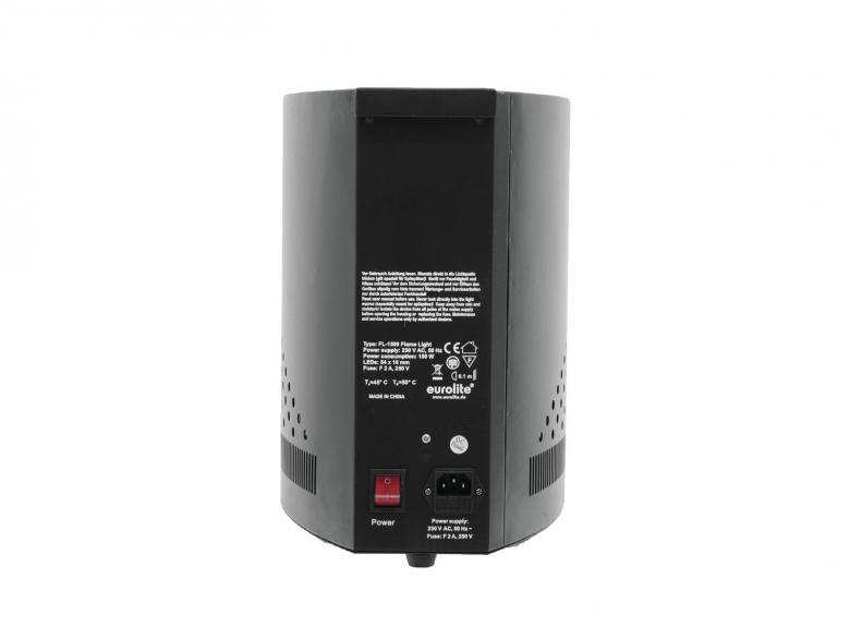 EUROLITE FL-1500 LED Flamelight 150cm 54 LEDiä Liekki valaisin, Flame-Light 150cm korkea kankaan kanssa!Näyttävä liekkivalo julkiseen tilaan, baariin, terassille, bileisiin!Vaíkuttava liekkivalo LEDeillä! Valmiiksi asennettu liekkikangas eli valmiina käyttöön.. Varustettu kestävillä LEDeillä! Puhallin nostaa silkkikankaan ylös ja saa sen näyttämään liekin lepatukselta. LED valot antavat liekin tyyppisen valaistuksen! Mitat rungolle 520 x 245 x 345 mm sekä paino 10kg. Liekin kanssa korkeus 1500mm.