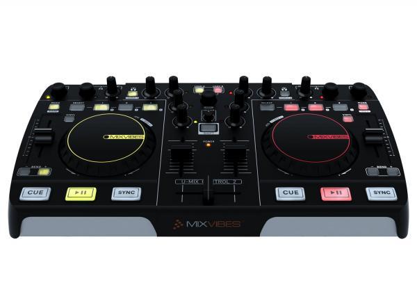 MIXVIBES U-MIX CONTROL 2 USB DJ Midi Controller, DJ-Console soittolaite, jolla teet tietokoneestasi Miksausaseman, sisältää Cross DJ LE softan