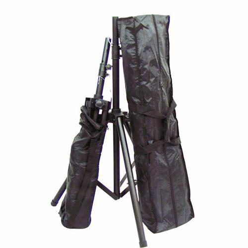 SKYTEC Kaiutinteline setti alumiinista 2kpl teleskooppitelineitä+ 1kpl kantopussi. Max 30kg, max korkeus 175cm, putken paksuus 35mmØ.