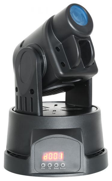 BEAMZ MH-1 Mini Moving Head 14W RGB LEDillä, 10 goboa, Mini LED Moving Head Spot Black!Pieni moving head spot goboilla, tehokaalla 14W rgb ledillä varustettu!Todella Pienikokoinen moving head 14W ledillä, 9 goboa sekä avoin.  RGB 14W led kykenee tuottamaan tehokaan valonsäteen, joka soveltuu musiikkibaareihin, clubeihin, pieniin discoihin sekä DJ keikoille. Voidaan käyttää 13 tai 5 DMX kanavan moodissa. Laitteessä stand alone musiikkiohjaus, eli toimii myös ilman ohjainta!  Valon aukeamiskulma on 13 astetta, joka on tyypillinen tämän tyyppisille valoille. Laite voidaan asentaa tasolle, kattoon tai seinään. Manuaalinen tarkkuuden säätö, kevyt ja kestävä muovirunko, todella upea myös näyteikkunassa. Musta ja valkoinen runkoväri saatavilla! Tämä tuote on todella hiljainen, voit laittaa pyörimään vaikka olohuoneessa.