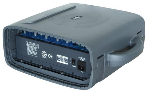 SKYTEC PSS-50 Siirrettävä Kaiutinjärjestelmä 6-kanavaisella Mikserillä, SD/USB soittimella, teho 120W!Huom! Erittäin pieni!!Voit kiinnittää mikrofonin, CD-soittimen, Mp3-soittimen linja sisäänmenoon rca liittimillä, ulostulo- linkki muille aktiivikaiuttimille. Tuote on loistava vaikka kokoustilaan, myyntikonsultille, joiden pitää siirtää järjestelmää mukanaan.<br /> Laitteessa USB tikulta, SD kortilta toimiva soitin.<br /> Kevyt kuljettaa, koska näppärä kanto paino vain 12.9 kg.Mukana on myös kaiutin jalat. mitat paketille 640 x 420 x 170mm .