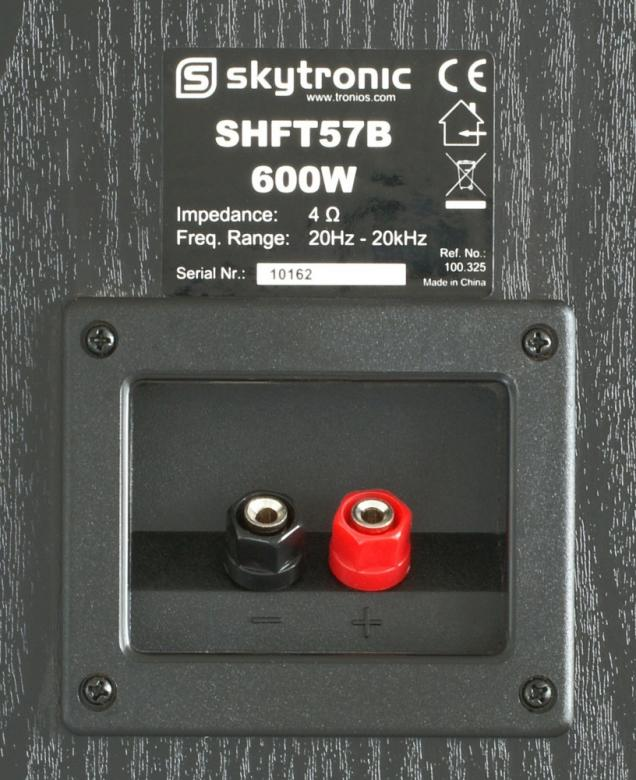 SKYTRONIC SHFT57B Torni lattiakaiutin pari 600W, Hifiä kotiin 4x 6,5