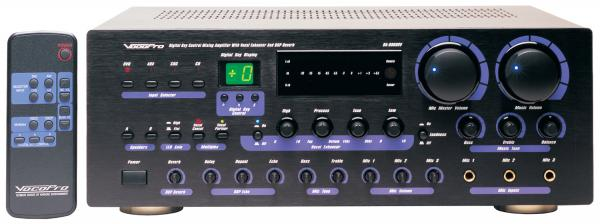 VOCOPRO DA-8909RV 360W Professional Digital Key Control Mixing Amplifier w/Vocal Enhancer, Karaoke-Mikserivahvistin!