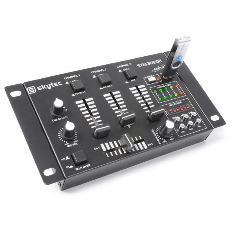 SKYTEC STM-3020 DJ-Mikseri USB on 4-kana, discoland.fi