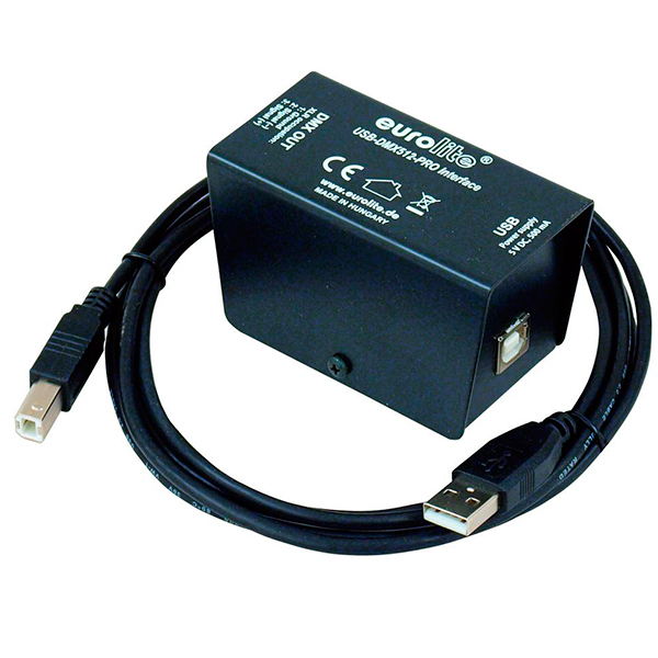 EUROLITE USB-DMX512-PRO Interface-Valooh, discoland.fi