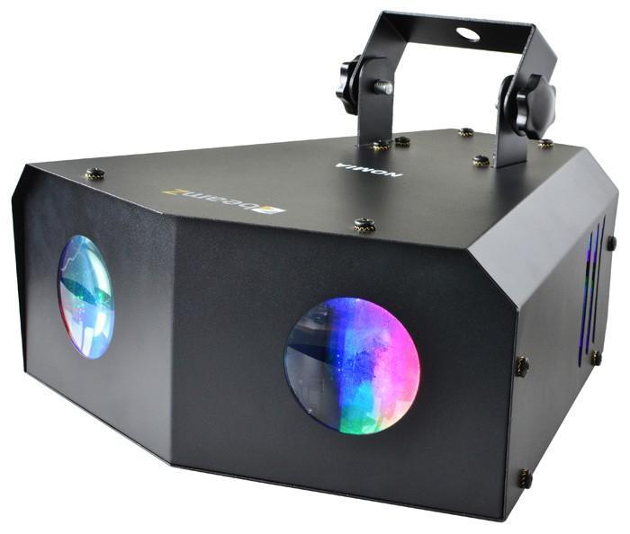 BEAMZ Nomia LED Double Mini Sky 2x3W - LED-valoefekti! Kirkas sädekimppu-efekti, musiikki-ohjaus ja auto-moodit. Erittäin kirkas valo kahta 3W LEDiä käyttämällä. Sopii käyttöön kotiin, discoon, baariin, clubille jne.. Uudet LED efektit korvaavat perinteiset Flower efektin monipuolisuudellaan. Pitkä LEDien käyttöikä 50000- 100000 tuntia, ei lamppujen vaihtoa! Mitat 270 x 270 x 350 mm paino 2.5 KG.