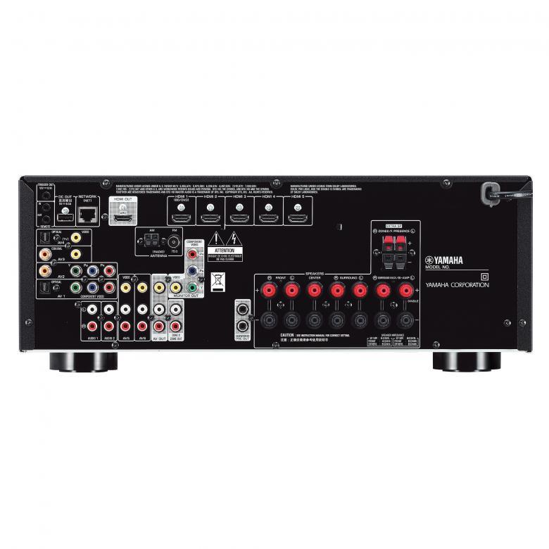 YAMAHA RX-V677 viritinvahvistin musta 7x 140W 7.2-Channel kotiteatteri vastaanotin! Yamaha RX-V677 on What Hifissä vuoden vahistimeksi valittun RX-V677 uusi entistä monipuolisempi malli. Tehokas 7.2 vahvistin, uusien HD ääniformaattien purulla. Uusimmat HDMI liitännät, tukien UHD 4K resoluutiota, 3D kuvaa sekä ARC audio paluukanavaa. Kuvaskaalain aina 4K resoluutioon saakka. Erilliskomponenttirakenteensa ansiosta RX-V675:sta löytyvät tasokkaat DACit Burr-Brownilta 192kHz/24-bittisenä, mikä tukee musiikin ja elokuvien ääniraitojen puhdasta toistoa. Yamahan täydelliset verkko-ominaisuudet, kuten Airplay tuki, Suomenkielinen ohjainsovellus iOS tai Android laitteille, vTuner nettiradio palvelin sekä DLNA tuki.  Älykäs huoneakustiikan korjain trimmaa kaikki 7 kanavaa ja myöskin subwooferin paikkavaikutusta, jolloin äänimaailma on yhtenäinen ja saumaton.