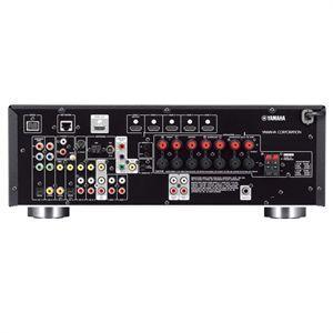 YAMAHA RX-V 677 Viritinvahvistin titan. 7x 140W 7.2-Channel kotiteatteri vastaanotin! Yamaha RX-V675 on What Hifissä vuoden vahistimeksi valittun RX-V673 uusi entistä monipuolisempi malli. Tehokas 7.2 vahvistin, uusien HD ääniformaattien purulla. Uusimmat HDMI liitännät, tukien UHD 4K resoluutiota, 3D kuvaa sekä ARC audio paluukanavaa. Kuvaskaalain aina 4K resoluutioon saakka. Erilliskomponenttirakenteensa ansiosta RX-V675:sta löytyvät tasokkaat DACit Burr-Brownilta 192kHz/24-bittisenä, mikä tukee musiikin ja elokuvien ääniraitojen puhdasta toistoa.<br /><br /><br /><br /><br /> <br /><br /><br /><br /><br /> <br /><br /><br /><br /><br /> <br /><br /><br /><br /><br /> Yamahan täydelliset verkko-ominaisuudet, kuten Airplay tuki, Suomenkielinen ohjainsovellus iOS tai Android laitteille, vTuner nettiradio palvelin sekä DLNA tuki.  <br /><br /><br /><br /><br /> <br /><br /><br /><br /><br /> <br /><br /><br /><br /><br /> <br /><br /><br /><br /><br /> Älykäs huoneakustiikan korjain trimmaa kaikki 7 kanavaa ja myöskin subwooferin paikkavaikutusta, jolloin äänimaailma on yhtenäinen ja saumaton.