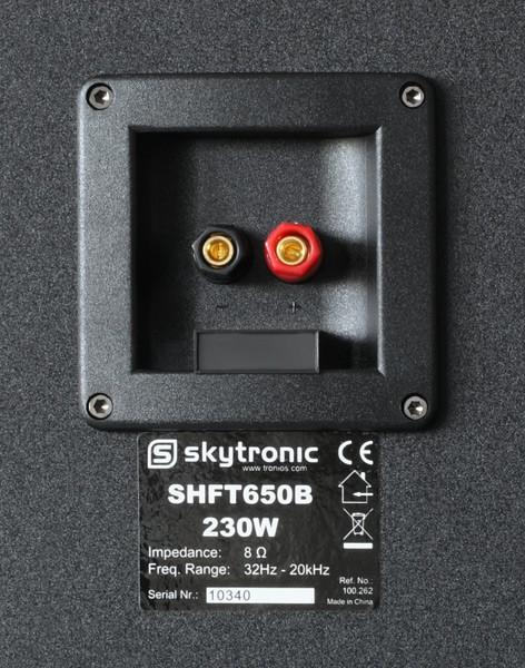 SKYTRONIC SHFT650B lattiakaiutin pari 3x 6,5-musta (Set)Torni- lattiakaiutin pari, Hifiä kotiin 6,5