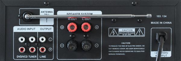 SKYTRONIC VV-1 Vahvistin musta USB & SD muistikorttipaikoilla, Monipuolinen 2x 50W stereovahvistin! Etupaneelissa USB portti sekä paikka SD kortille.2 mikrofoniliitäntää (6.3mm plugi). Yksi audio ulostulo RCA liittimillä. Mukana kaukosäädin! Mitat 95 x 250 x 240mm.