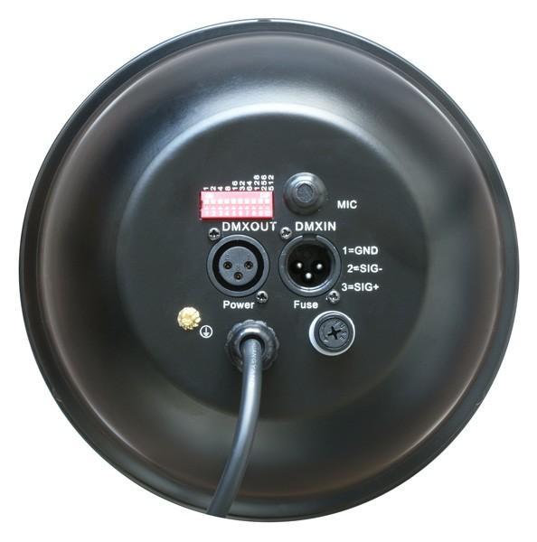 BEAMZ LED PAR-64 RGB 36x1W LED Spotti 9000 Lux @ 1m,Beam angle 25°  Tyylikäs ja tehokas LED-heitin, soveltuu bändeille, discoon!! DMX ohjattava LED-heitin 6-kanavaa. RGB multi värit miksattavissa. Automatiikalla voi säätää värien feidaus aikaa. Sisäänrakennettu mikrofoni. Voidaan valita dipeillä värit erikseen. Mitat 220 x 220 x 325mm  paino 3.2kg.