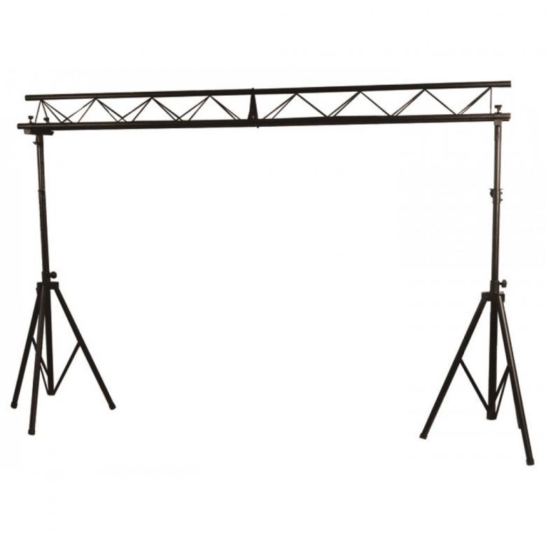 BEAMZ Light Bridge triangle DJ trussi keikalle Kestää jopa 100KG!Todella jykevä mukaan otettava trussi setti tiksijukalle tai muille artisteille. Saat mukavasti settiin useita valoja sekä vaikka taustakankaan. Maksimi korkeus 3,9m , leveys 3,0m. paketin mitat 151 x 48 x 30cm cm sekä paino 26,00kg putken paksuus 36mm.