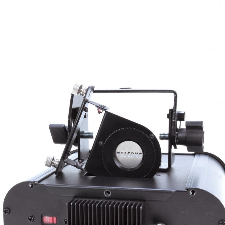 ADJ Gobo projektori LED, 10W tehokas LED gobo vaihdin markkinointiin!Logo-projektori, voit itse laittaa omat gobot laitteeseen. Mitat 218x 200x 108mm sekä paino 3kg.