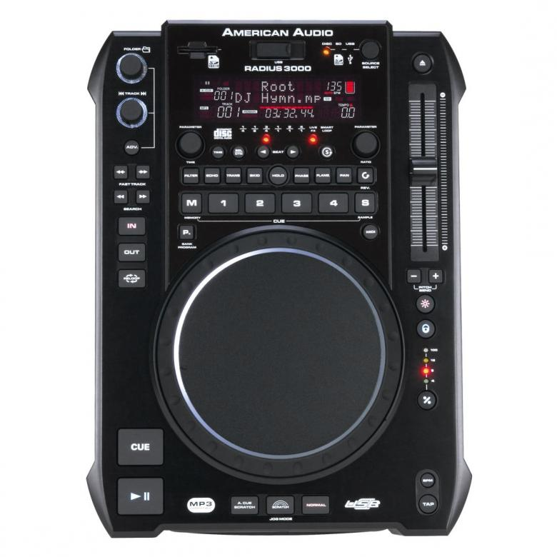 ADJ-dj-tuotteet RADIUS 3000 DJ CD,SD,USB& MIDI soitin DSP Efekteillä, MIDI ohjauksella softille! is a professional CD/MP3/WAV player with Midi capabilities!  DJ ohjain, kontrolleri, cd soitin!
