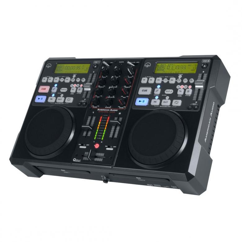 ADJ Encore 1000 System All In One DJ-paketti, 2 kpl CD-soitin ja mikseri, kaikki yhdessä! Tällä voit lähteä suoraan keikalle tai bileisiin soittamaan. Tupla-cd ja mikseri.
