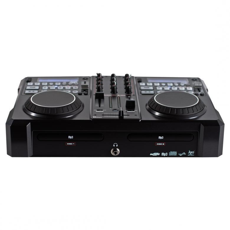 ADJ Encore 2000 System DJ-paketti kontrolleri (virtual DJ), 2 kpl CD-soitin, 1kpl mikseri, kaikki yhdessä! Mukana myös Midi kontroller! Tässä all in one paketissa on kaikki mukana. 2kpl CD soitin, mikseri ja kontrolleri. Mitat 450 x 285 x 110mm sekä paino 5,0kg.