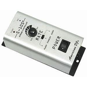 AMERICANDJ S-10S Strobo ohjain,Single channel strobe controller. 0-10V analogi, mono Plugi ulostulo! Snap shot + muut strobot