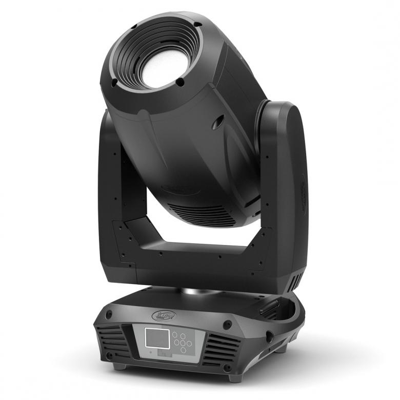 ELATION Platinum Profile LED moving head spotlight.The new Platinum Profile™ is a profile / framing shutter LED spot illuminare featuring a 180W LED engine, 6,500K, >85CRI, 9,000 total lumens, 18° beam angle, 7 dichroic colors including UV, and white, 7 rotating interchangeable and 7 fixed gobos, 3-facet rotating prism, frost filter, 3 and 5 pin DMX in/out and powerCON connections, (6) button control full color 180° reversible menu display, and a multi-voltage universal auto switching power supply (100-240v).