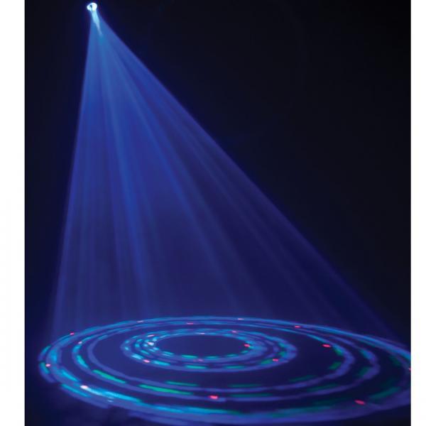 ADJ TRI GEM LED, tehokas LED valoefekti! Edullinen jä hauska valoefekti pieniin tiloihin. Kapeat valokeilat liikkuvat pyörien! Pitkä LEDien käyttöikä 50000- 100000 tuntia, ei lamppujen vaihtoa! Myös keikkailevat tiskijukat sekä clubit voivat ottaa helposti tämän tyyppiset valot käyttöönsä. Kytke vain virta ja monipuoliset musiikin kanssa ohjatut ohjelmat saavat tanssilattiasi elämään!!!