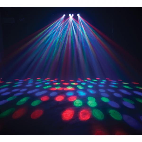 AMERICANDJ Majestic LED DMX, tehokas LED valoefekti 184 terävällä  LED säteellä! Todella upea valoefekti. Led efektit tulevat neljän linssin lävitse. Kerrassaan todellinen floorfiller! mitat 542x215x194mm ja paino 5.1kg.