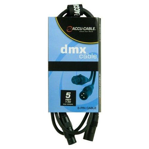 ACCU-CABLE DMX-kaapeli 5m XLR-uros-XLR-n, discoland.fi