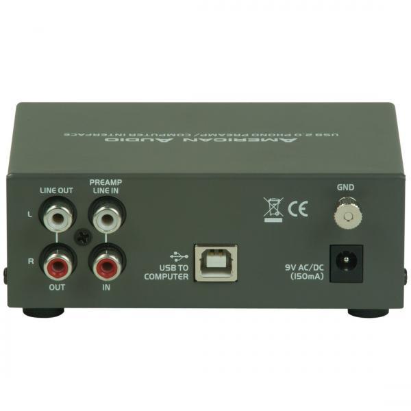 ADJ Audio Genie PRO USB-äänikortti Riia-korjain sekä Volume-säädin. Digitaalinen audiointerface, toimii useimpien softien kanssa! Tällä voit muuntaa signaalia analoogisesta digitaaliseen. Saat säädettyä äänen näppärästi tietokoneelle tai tietokoneelta. USB-virta, joten ei tarvita erillistä virtalähdettä. Erittäin pieni, vain 150g. Voidaan käyttää levysoitiimen liittämiseen suoraan linjasisäänmenoon, eli kotiteatteriin, jossa ei ole Phono-liitäntää. Audio Genien avulla voidaan levysoitin kytkeä suoraan aktiivikaiuttimeen. Toimitus sisältää erillisen virtalähteen.