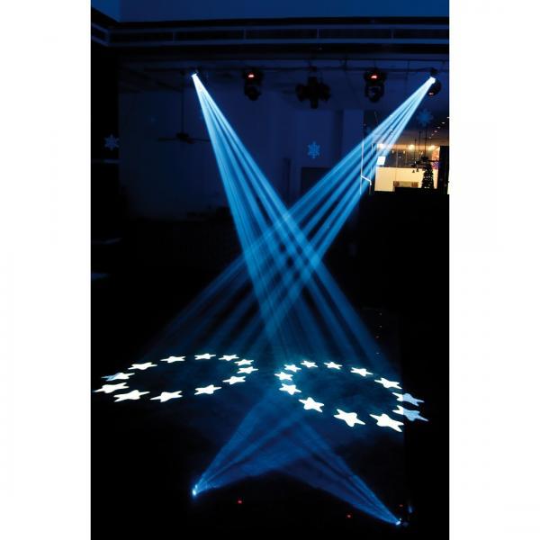 POISTO ADJ Vizi Scan LED Pro LED 50W B-stock. tehokas LED Scanneri, Prisma, pyörivät vaihdettavat gobot, frost! PRO luokan scanneri 50W LED valolähteellä!