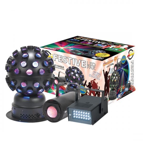 ADJ Festive LED Pak, kolme yhdessä, LED siili, LED Flower sekä LED Strobe!!