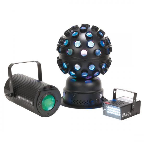 ADJ Festive LED Pak, kolme yhdessä, LED, discoland.fi