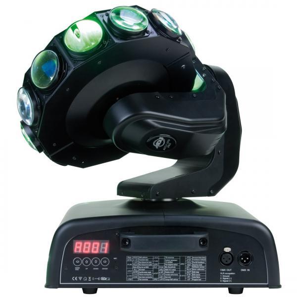 AMERICANDJ Accu UFO Pro moving Head efektivalo 32x 1W!! Tässä ufo juttu jokaiselle laadukkaalle tanssilattialle!