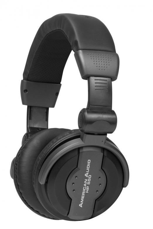ADJ HP550 DJ-kuulokkeet musta Mukavasti , discoland.fi