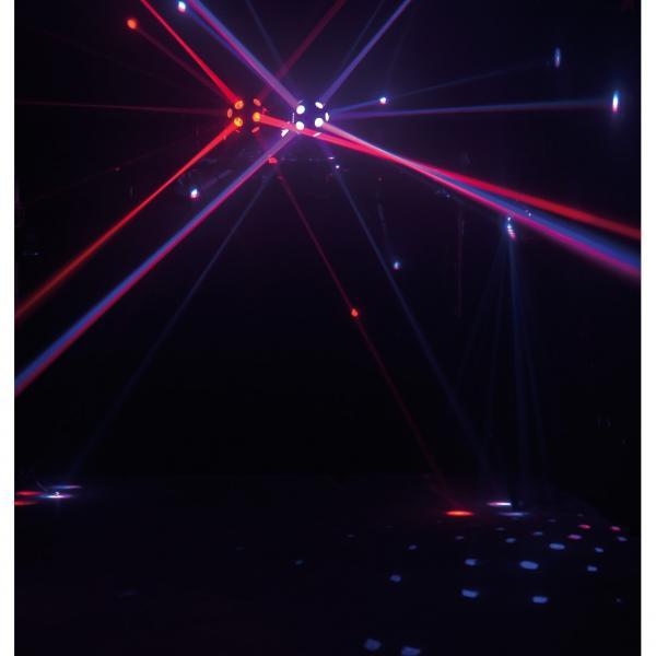 ADJ Roto Balls TRI LED, tehokas LED valoefekti 4x 3W ledeillä! Mahtava pyörivä efekti, jonka voit asentaa kattoon tai tasolle(ruuvattava). Mitat 560x230x295 mm sekä paino 4,75kg.