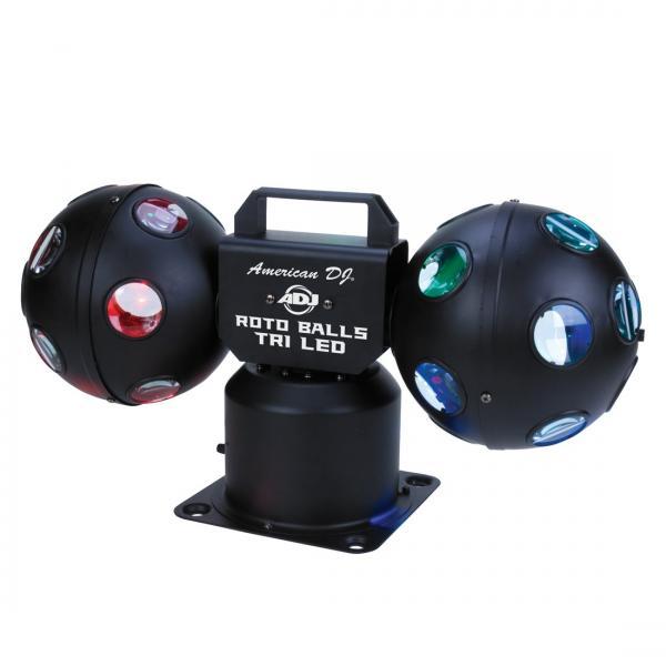 ADJ Roto Balls TRI LED, tehokas LED valo, discoland.fi
