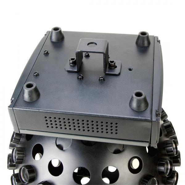 ADJ Spherion WH LED valkoisilla, tehokas LED valoefekti 5x 3W ledeillä! Peilipallon tilalle tyyliä! Mitat 320x190x422mm sekä paino 5,0kg.