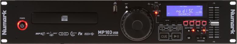 NUMARK MP103USB Cd soitin, MP3, USB Tämä tuote soveltuu ryhmäliikuntaan, keikkailevalle tiskijukalle, baariin tai kotiin miksauksen harjoitteluun! XLR ulostulo balansoitu. 4, 8, 16, 100% Pitch Control sekä Master Tempo pitch korjaus. Räkkikokoinen 19