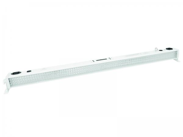 EUROLITE BAR-252 LED-palkki 10mm 20° RGBA-väreillä Valkoinen on Käytännöllinen LED-palkki RGBA-väreillä vaikka seinien valaisuun. Laadukas parru mallinen valaisin neljällä värillä. Ohjattavissa usealla tavalla, Musiikki, automaatti sekä DMX 4,6 sekä 19 kanavaa. Helppo kiinnittää seinään tai kattoon. Mitat 1075 x 65 x 90 mm sekä paino 2,0kg.