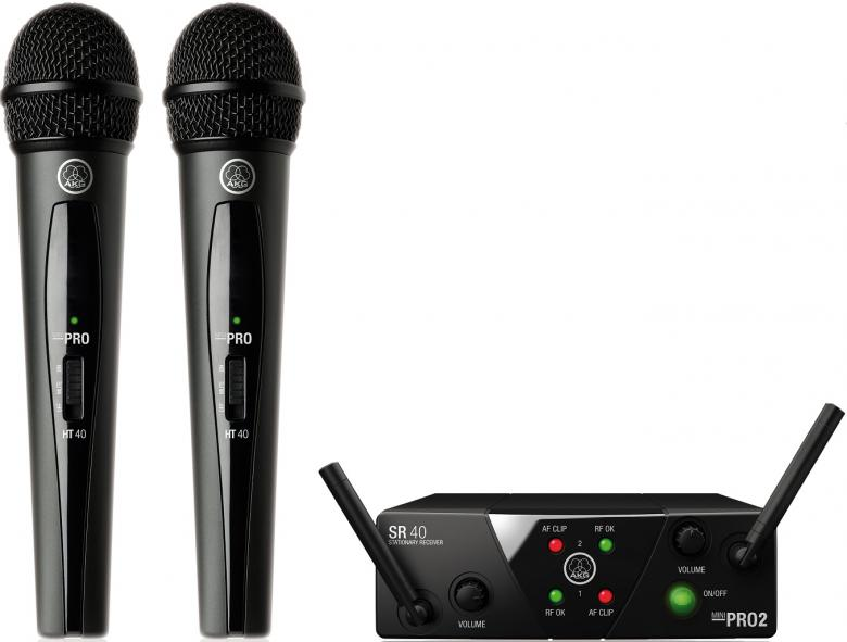 AKG WMS40 Mini 2 Vocal set DUAL langaton, discoland.fi