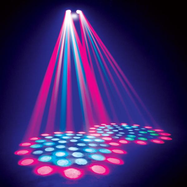 ADJ Reflex PULSE LED, tehokas LED valoefekti kahdella flowerilla, strobolla sekä scannaavat liikkeet! Tupla peilit sekä LED strobe yhdessä laitteessa. Aukeamiskulma 28- astetta. Mitat 363 x 322 x 111mm  sekä paino 5.5kg.